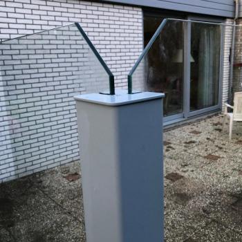 Square Volglazen Windscherm Texel 5